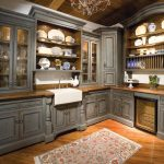 Grey Old Style Kitchen Cabinets Ideas