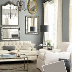 Grey Paint Color For Living Room Interior Design 2014 With White Furniture And Curtains