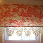 Half Red Toile Curtains