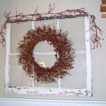 Handmade Christmas Decor For Windows With White Frame