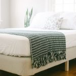 IKEA Spring Box In White Color White Bedding White Pillows