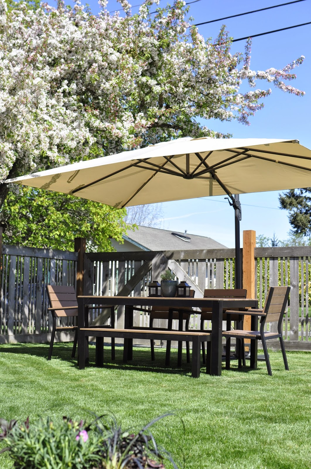 Ikea Patio Umbrella For Furniture Surrounding With Fence