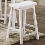 Inspiring White Wood Bar Stools