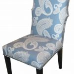 Leather Dining Room Blue Upholstered With Armless Design
