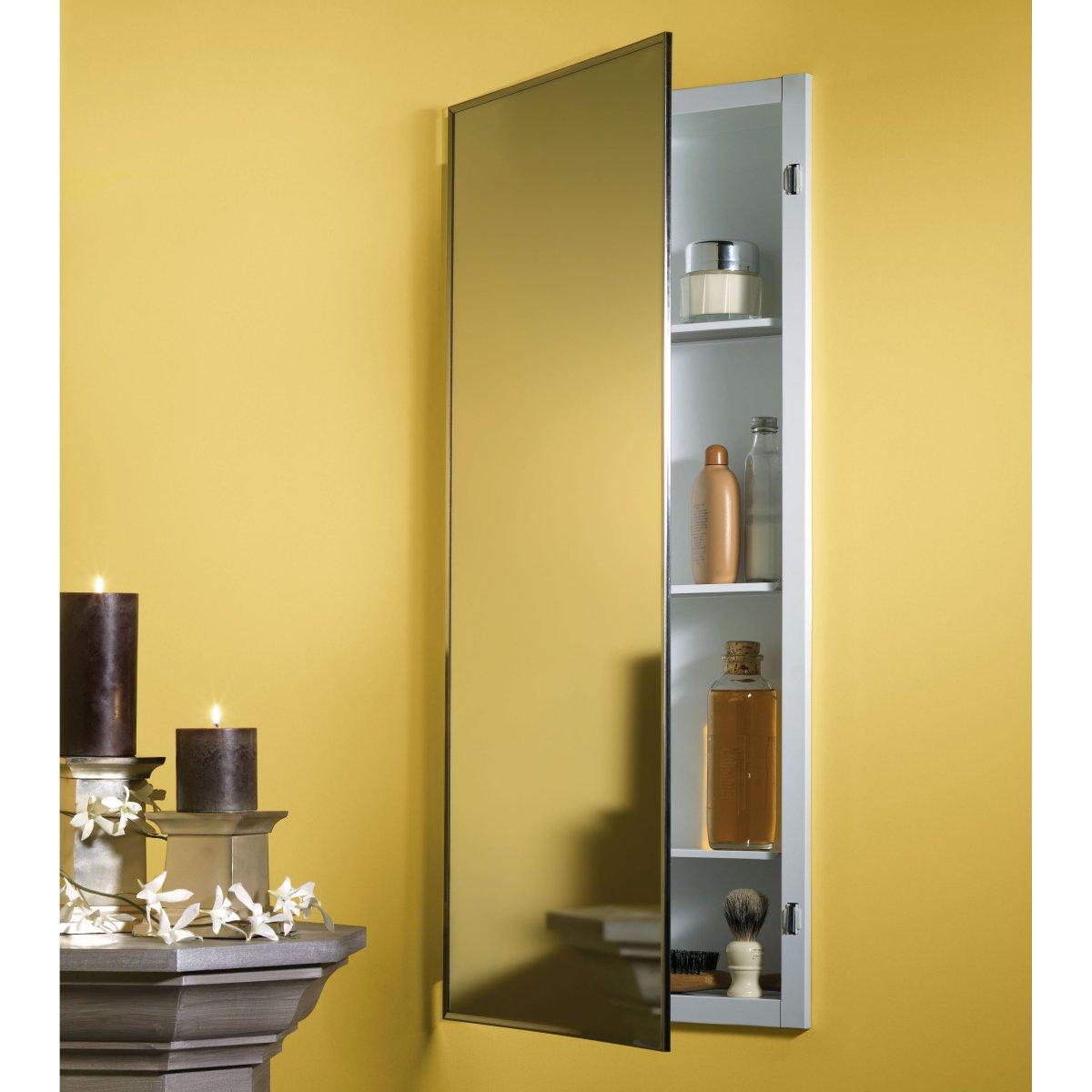 Long Medicine Cabinet Design With Mirror