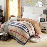 Luxury Bedding Linen Duvet Cover For Winter With Fur Rug