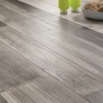 Medium Grey Wood Floor Tile With Rectangular Shape