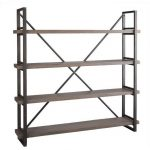 Metal and wood booshelves idea from IKEA