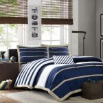 Mi-Zone-Ashton-Comforter-Set-in-Blue-navy-made-of-high-quality-polyester-in-twin-extra-long-and-queen-sizes-also-stripped-pattern-of-navy-and-white