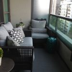 Minimalist Design With Grey Small Balcony Furniture