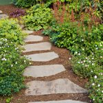Modern And Unique Stone Garden Footpath Designs