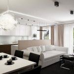 Modern Apartment Interior Design For White Living Room