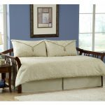 Modern White Day Bed Covers With Wooden Bed Frame