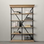 Modern Bookcase With Metal And Wood As The Main Materials