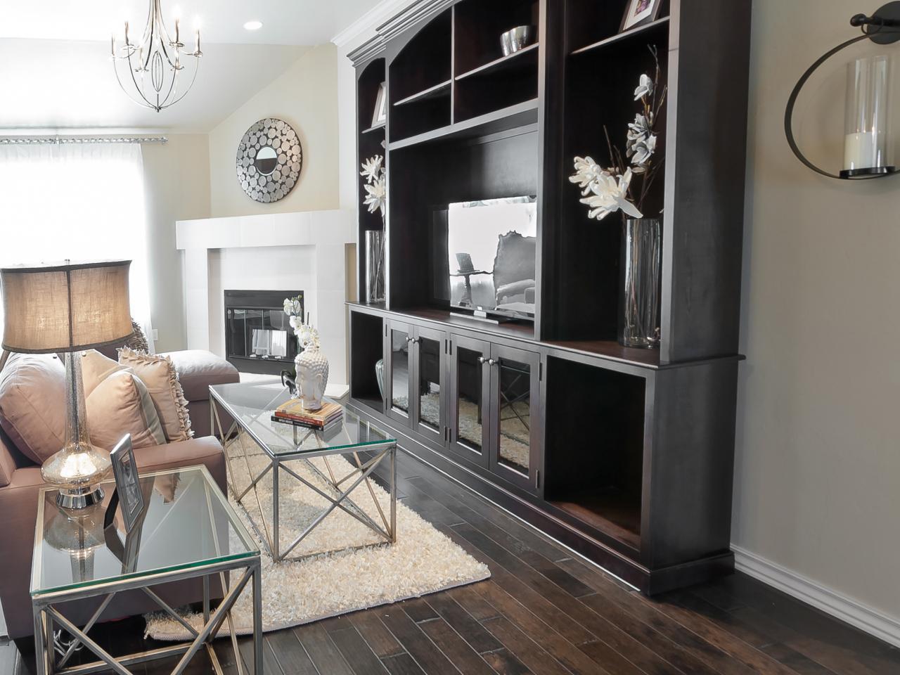 Living Room: Living Room With Dark Wood Floors