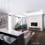 Open Room With Living Room And Kitchen Of Modern Apartment Interior