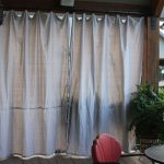 Outdoor Curtain Panels On Wooden Frame