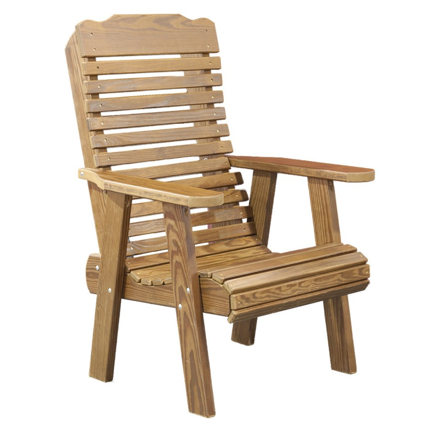 Wooden Garden Chair ~ Wooden chairs with arms homesfeed