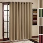 Patio Door Curtain Panel With Cream Blackout Curtain