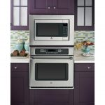 Purple Cabinet Kitchen With Metal Grey Side By Side Ovens