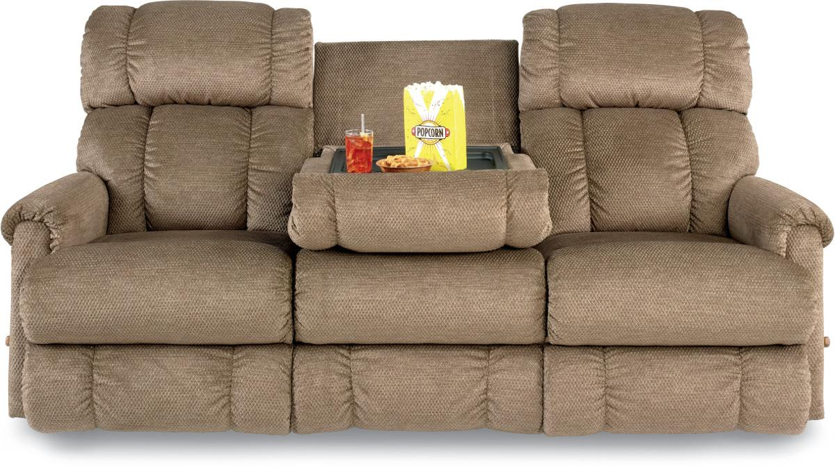 Sofa With Console Best Double Recliner Sofa With Console