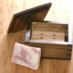 Rectangular Shape Wooden Draining Soap Dish