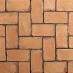 Rectangular shaped Spanish tiles in brown