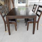 Retro Solid Real Wood Dining Table Sets