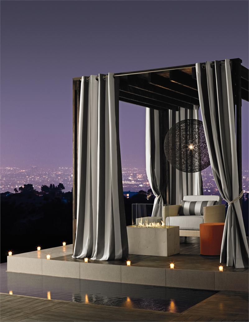 Striped outdoor curtains - Outdoor Curtains For Gazebo Bestcurtains