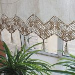 Shabby-Chic-Cotton-Linen-Cafe-Curtain-Valance-with-Crocheted-Floral-and-Patterned-Tassel-Trim-at-the-Bottom-and-59-Wide-range-and-in-Natural-Color