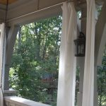 Simple Classic White Outdoor Curtain Panels