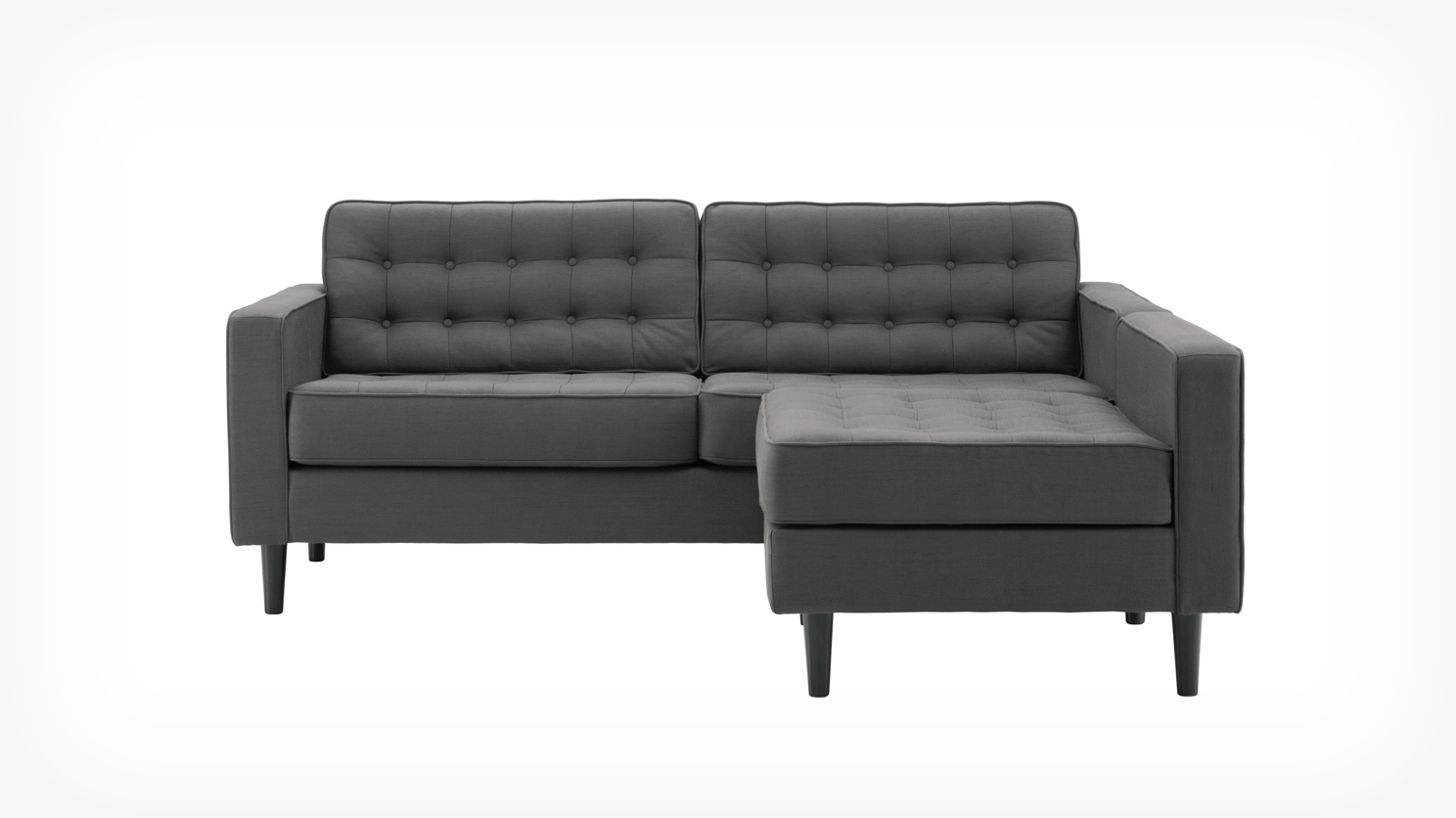 2 piece sectional sofa with chaise design homesfeed for Chaise designer