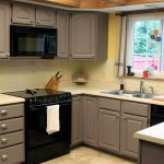 Simple Grey And Painting Color Of Kitchen Cabinets Ideas