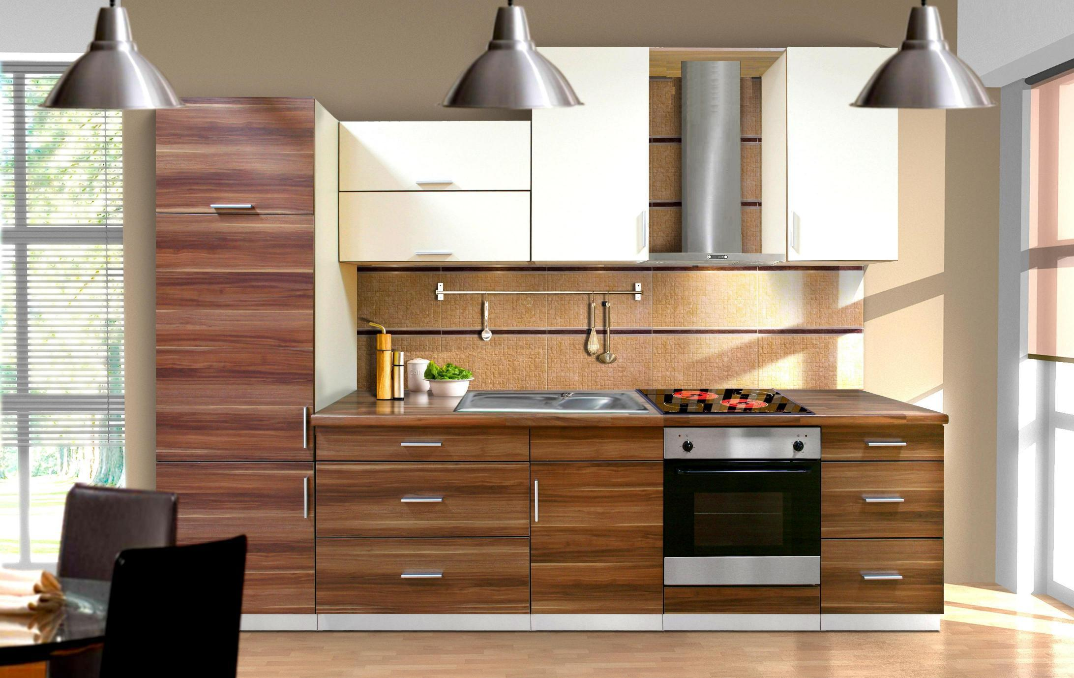 Simple Modern Kitchen Cabinets Ideas With Triple Lights