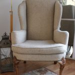 Simple Shaped And Design For Upholstered Wingback Chair