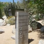 Simple but elegant modern mailbox in silver tone color