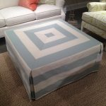 Slipcover for ottoman table with beautiful modern pattern