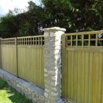 Stone And Wooden Wall Fence Panels