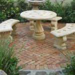 Stone Patio Tables And Benches Too For Outdoor Furniture