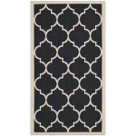 Stylish Pattern Of Black Beaige Indoor Outdoor Carpet