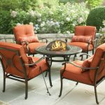Target Patio Chairs With Orange Color And Table Fireplace