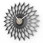 Textured black metal framed wall clock idea