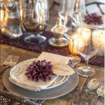 Thanksgiving-Placecards-Script-Leaf-by-lia-griffith-in-purple-color-on-the-plate-with-the-person's-name-on-the-wooden-table