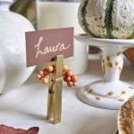 Thanksgiving-Placecards-from-clothespin-centsational-girl-on-the-white-table-and-milk-and-Laura-person's-name
