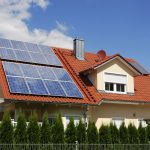 Tiled Roof Home With Solar Panels