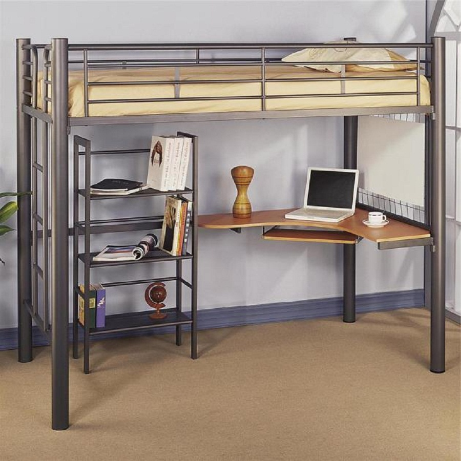 Twin Loft Bed Ikea With Desk Racks