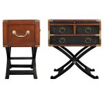 Two Diferent Design Of Campaign Side Tables