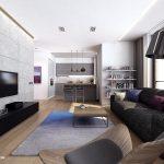 Unique Modern Apartment Interior Of Living Room