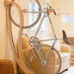 Unique wooden rack for bicycle