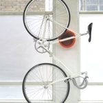 Vertical bike rack design